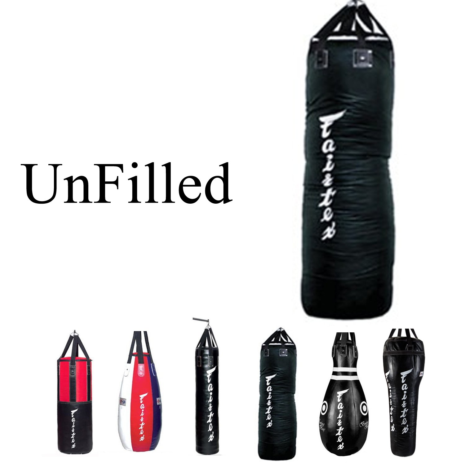 Fairtex Heavy Bag UNFILLED Banana, Tear Drop, Bowling, 7ft Pole, Angle Bag, HB3 HB4 HB6 HB7 HB10 HB12 for Muay Thai, Boxing, Kickboxing, MMA (HB7 7ft Pole Bag) by Fairtex