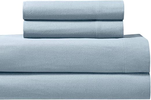 Amazon Com Royal S Heavy Soft 100 Cotton Flannel Sheets 4pc Bed Sheet Set Deep Pocket Thick Heavy And Ultra Soft Cotton Flannel Blue King Kitchen Dining