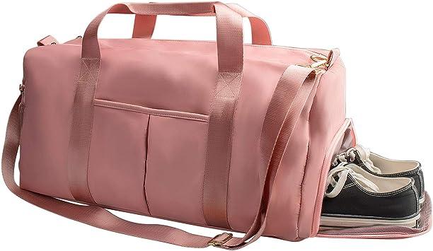 Amazon.com | Suruid Gym Bag for Women, Workout Duffel Bag Shoe ...