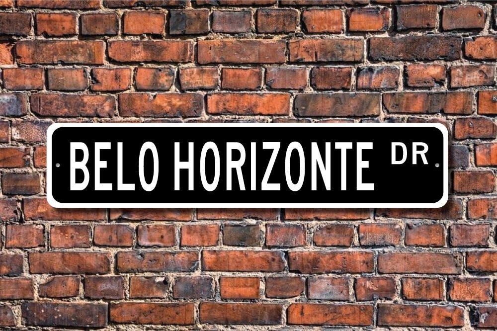 Belo Horizonte Gift Souvenir Belo Horizonte Native Brazil City Yard Fence Driveway Street Sign Indoor Outdoor Decorative Ballkleid