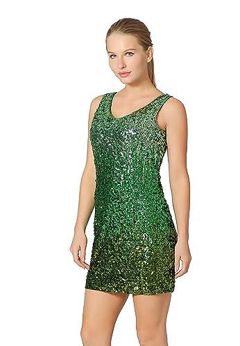 86c0549d Metme Women's Sexy V Neck Sleeveless Glitter Bodycon Dress Sparkle Shimmer  Sequins Party Midi Dresses: Amazon.co.uk: Clothing