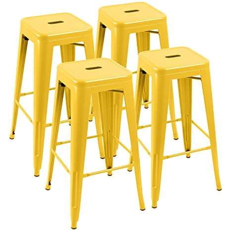 Amazon.com: Furniwell 30 Inches Metal Bar Stools High ...