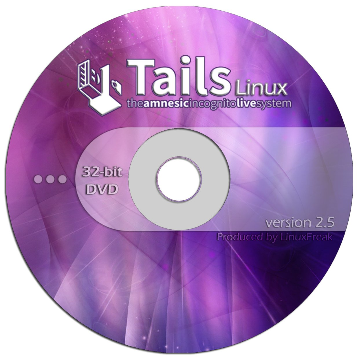 Tails Linux 2.5 - Browse Anonymously - Bootable Premium DVD by LinuxFreak