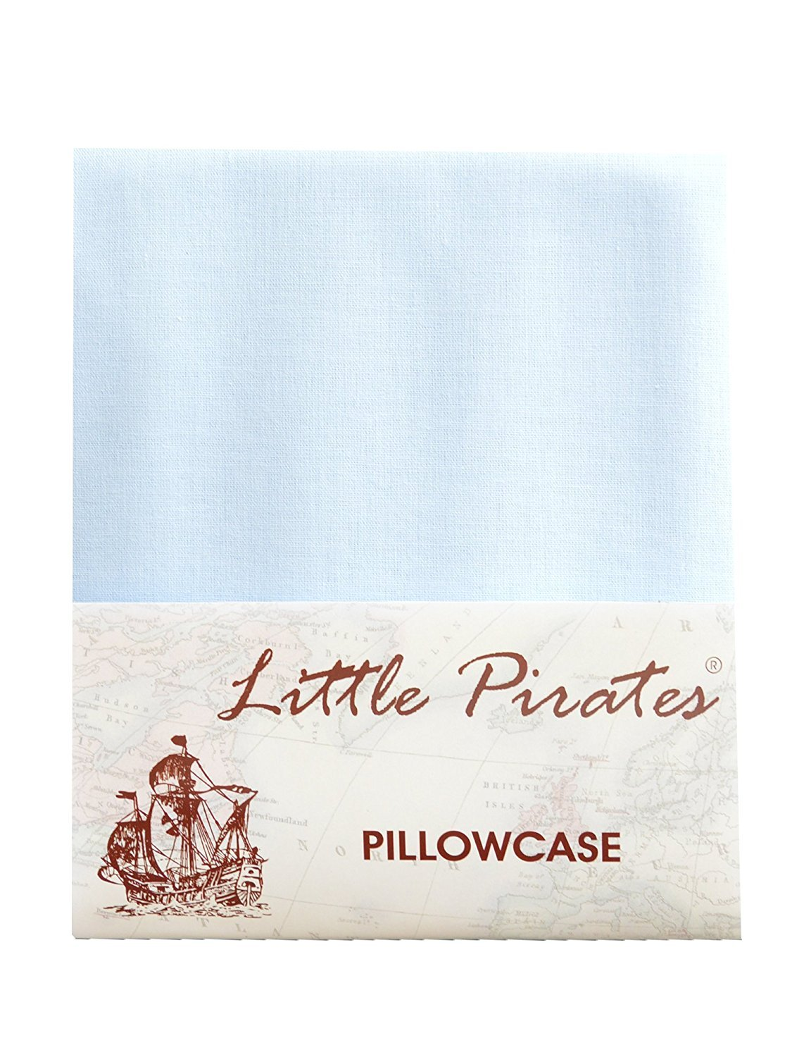 Brand New Baby Blue Cot Bed Pillow Case 60 x 40 - 100% Luxury Brushed Cotton Little Pirates