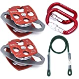 GM CLIMBING Hardware Kit for 5:1 Mechanical Advantage Pulley / Hauling / Dragging System Block and Tackle