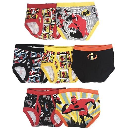 ed27217602c Amazon.com  Disney Boys  Toddler Incredibles 7-Pack Underwear Briefs ...