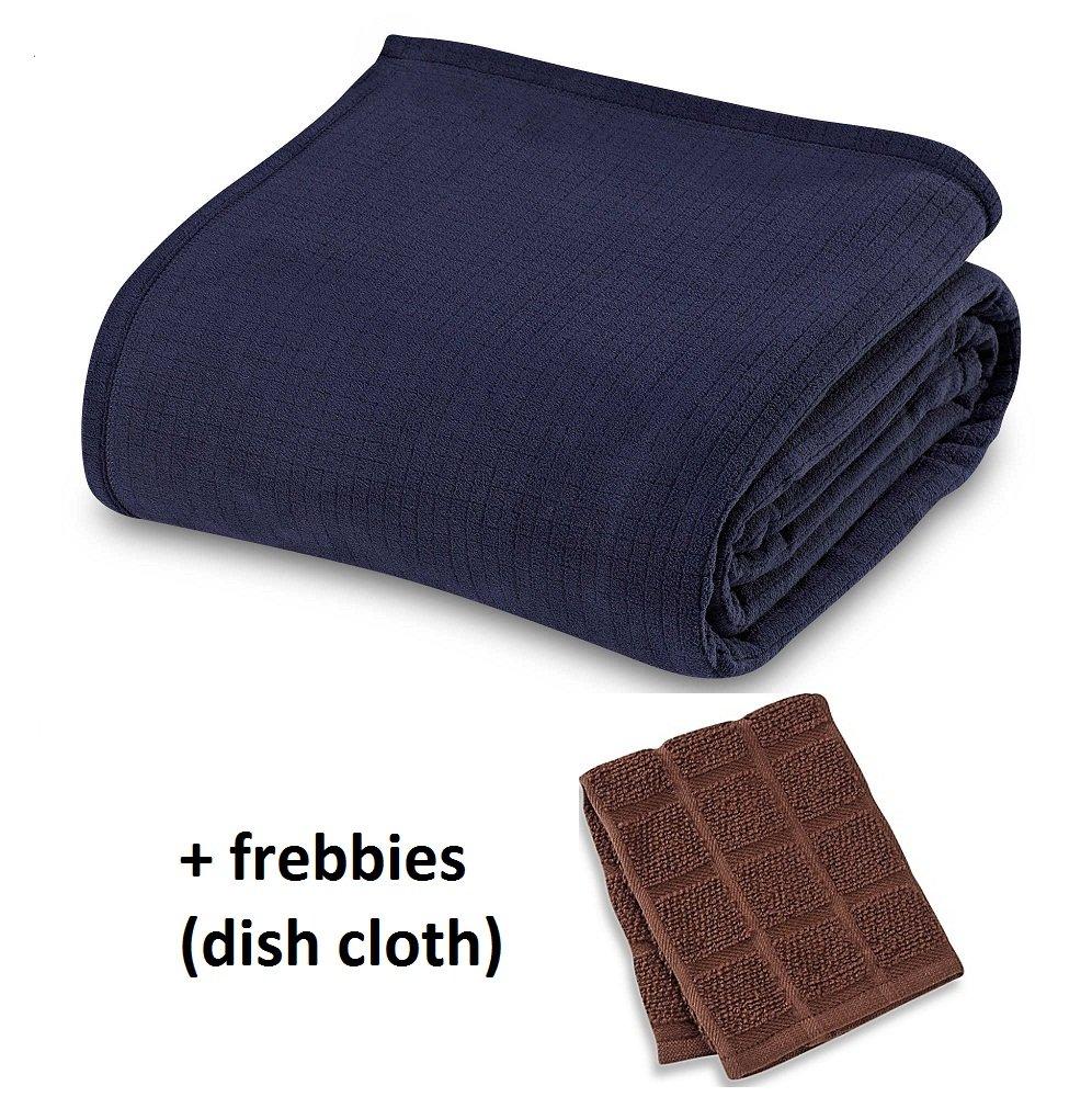 Berkshire Blanket Polartec Softec KING Blanket in MIDNIGHTBLUE +++ Freebbies (Dish cloth)