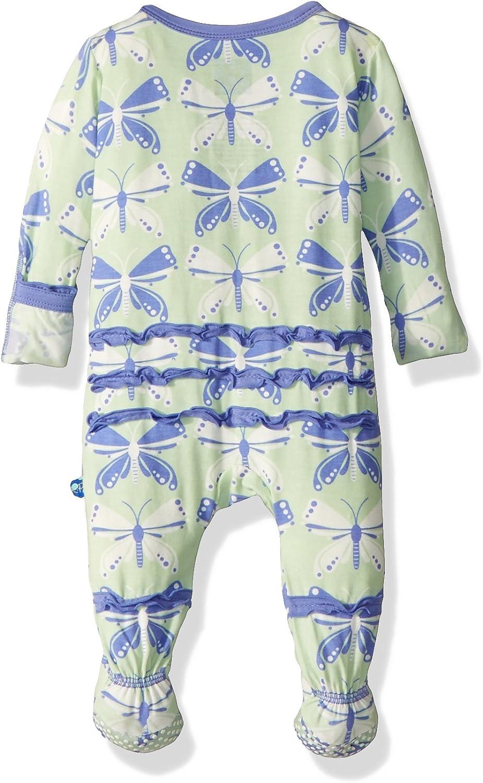 Kickee Pants Baby Girls Print Muffin Ruffle Footie Prd-kpmrf391-aob