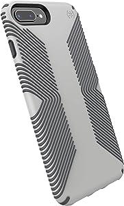 Speck Presidio Grip iPhone 8 Plus/iPhone 7 Plus/iPhone 6S Plus Case, Marble Grey/Anthracite Grey