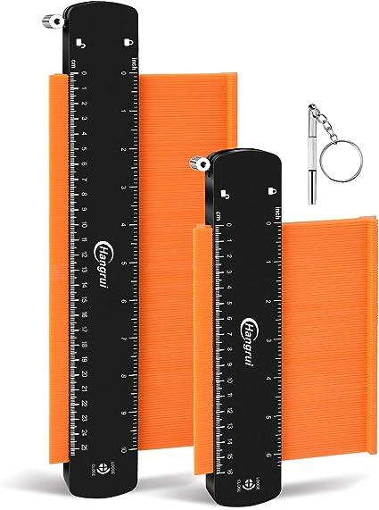 VIBIRIT 2 Pack Jauge de profil Forme irr/éguli/ère Copie R/ègles de mesure de contour Outils de mesure pr/écis multifonctionnels Duplicateur de jauge de contour