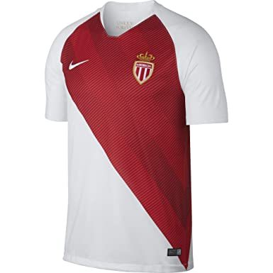 1366c980f64 NIKE 2018-2019 AS Monaco FC Stadium Home Jersey (White Speed Red)