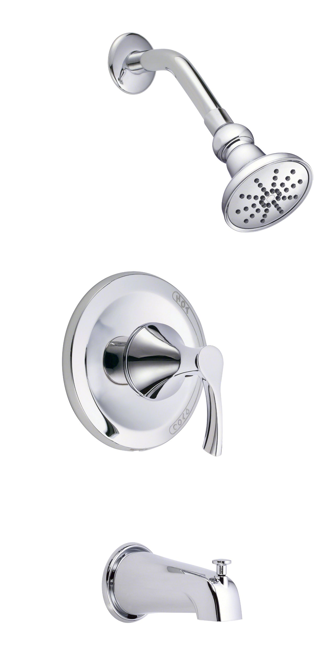 Danze D503022T Antioch Single Handle Tub and Shower Trim Kit, 1.5 GPM, Valve Not Included, Chrome by Danze