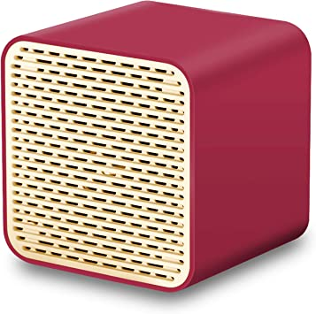 Altavoces Bluetooth, altavoz inalámbrico portátil LFS, mini altavoz cuadrado con sonido de 5 W potente, graves ricos, altavoz integrado, compatible con TWS, compatible con iPhone, iPad, Android, smartphone y más (rojo): Amazon.es: