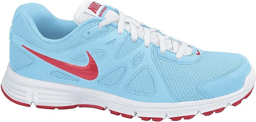Nike Revolution 2 GS - Zapatillas de Running para niña, Color Azul Cielo/Rojo/Blanco, Talla 39: Amazon.es: Zapatos y complementos