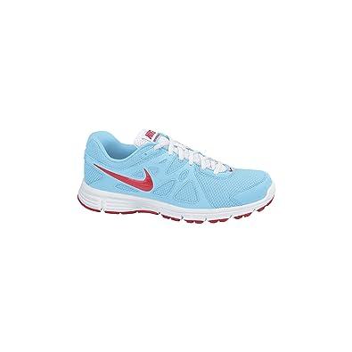 the best attitude 1f668 73a49 Nike , Chaussures de Course pour Fille - - Azul Blanco, 40 EU