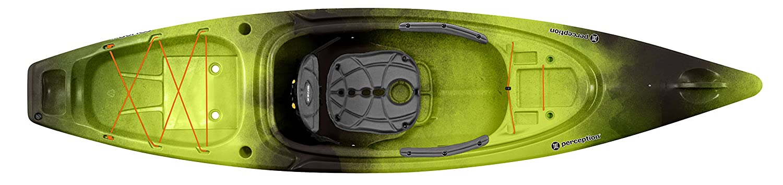 Perception Sound 10.5 Sit Inside Kayak For Adults Recreational and Fishing Kayak 10 6