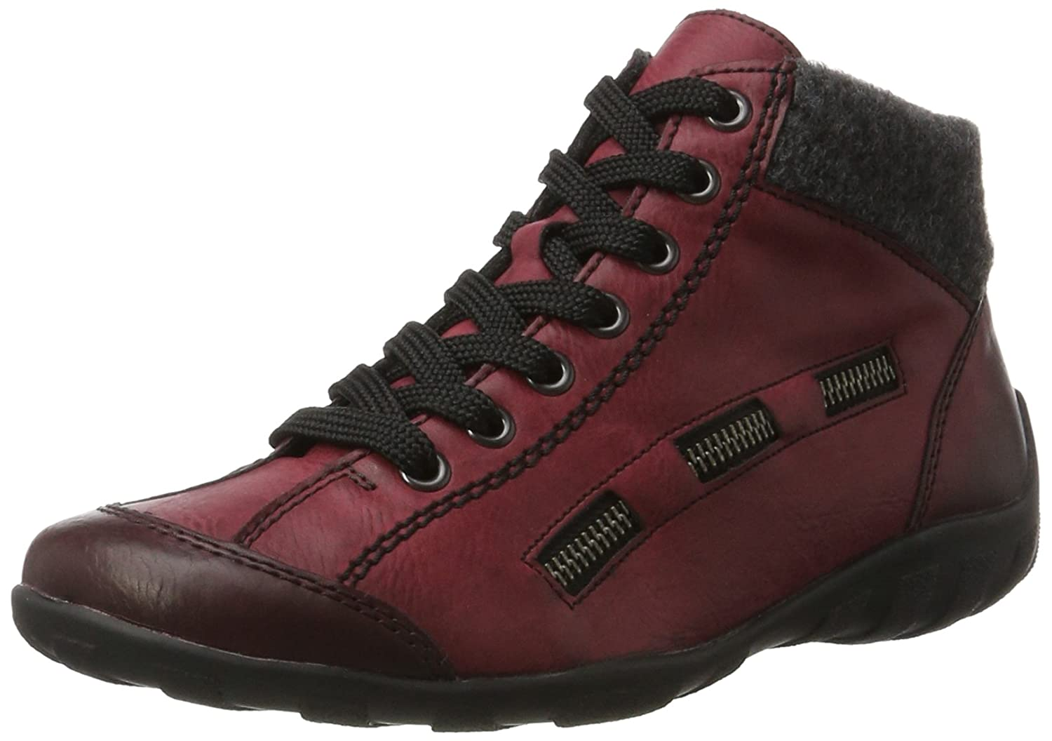 Rieker Damen (Wine/Anthrazit) L6543 Hohe Sneaker, Rot (Wine/Anthrazit) Damen 57f043