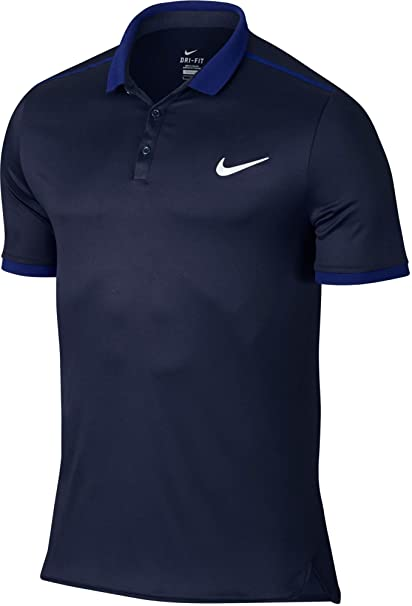 Nike Men's Advantage Tennis Polo(Obsidian/White, ...