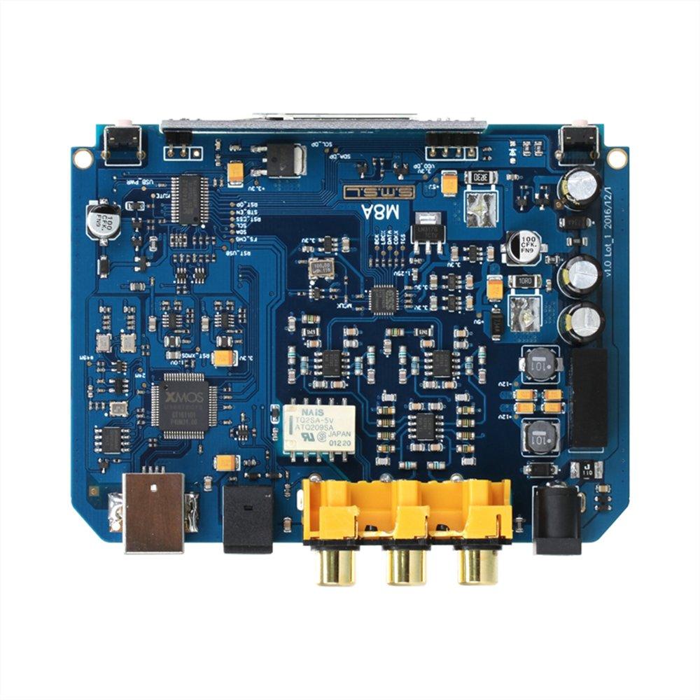 SMSL M8A 2nd XMOS ES9038Q2M 32Bit//768KHz DSD512 USB DAC Optical Coaxial Decoder