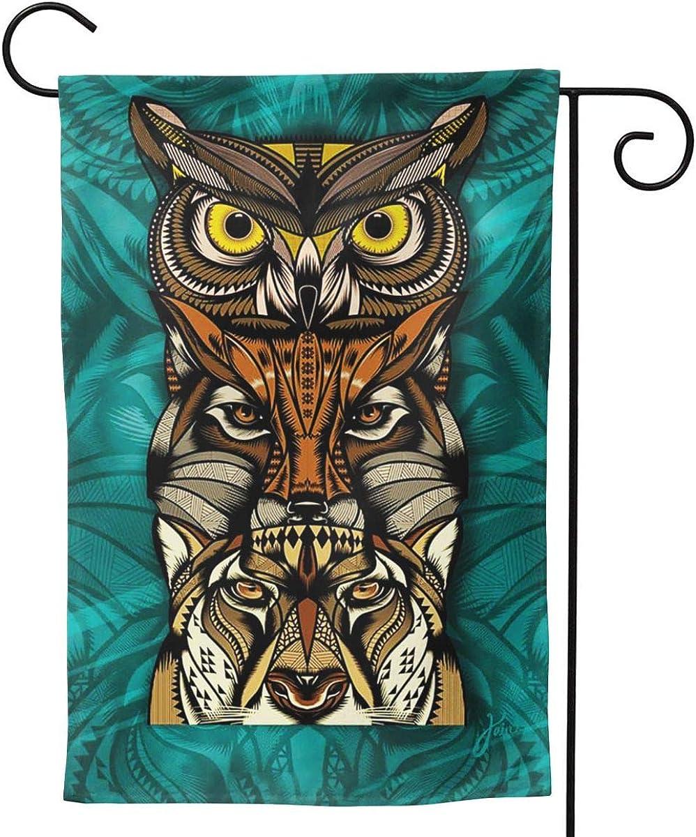 Pop Cat Owl Wolf Maya Art Garden Flag Vertical Double Sided Outdoor Yard Lawn