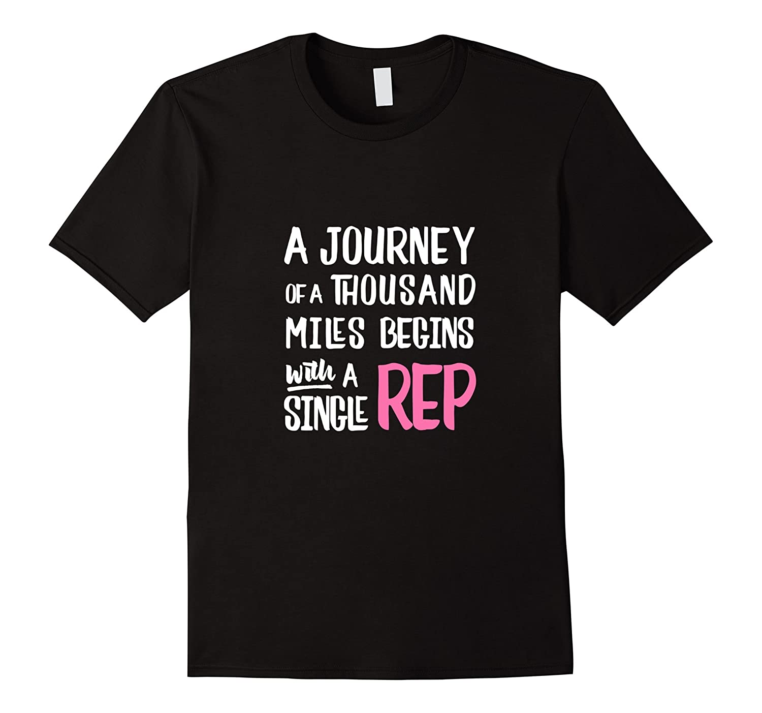 A Journey Of A Thousand Miles Womens Workout Tee-Vaci
