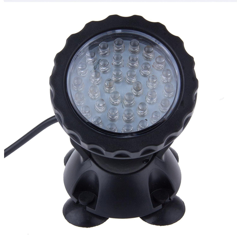 Kasstino Waterproof Colorful 36 LEDs RGB Flash Submersible Light Underwater Aquarium Spotlight Fish Tank Gardens Pond Lamp KS0464