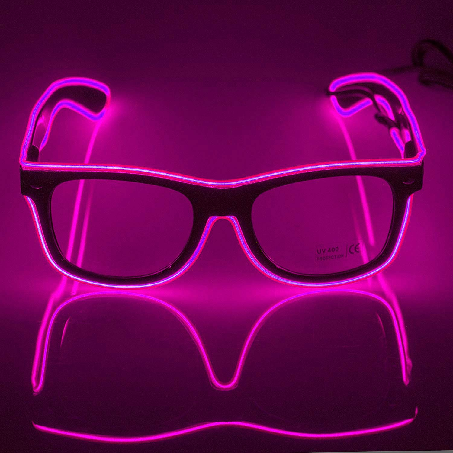 65dcaf40e7 WIKI Led Light Up Neon Party Glasses