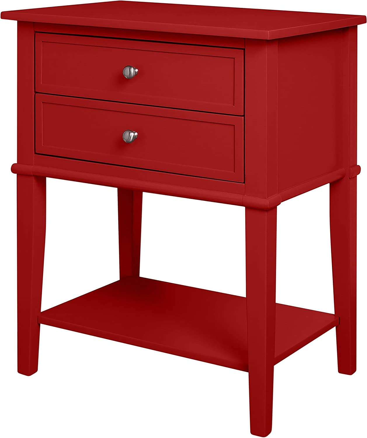 - Ameriwood Home Franklin Accent Table With 2 Drawers, Red: Amazon