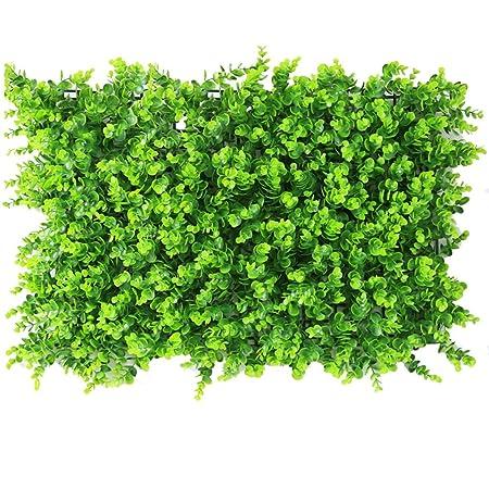Amazon De Maiaro 2 Kunstliche Hecke Grune Pflanze Wand Spalier
