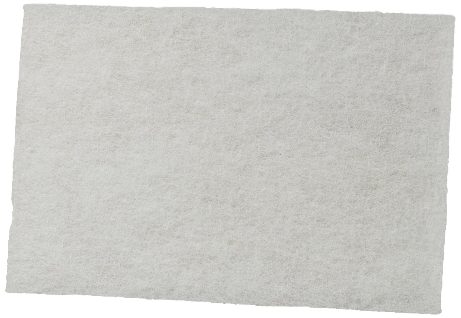 Scotch-Brite(TM) Light Cleansing Pad 7445B, Aluminum Silicate, 9'' Length x 6'' Width, White  (Pack of 60)