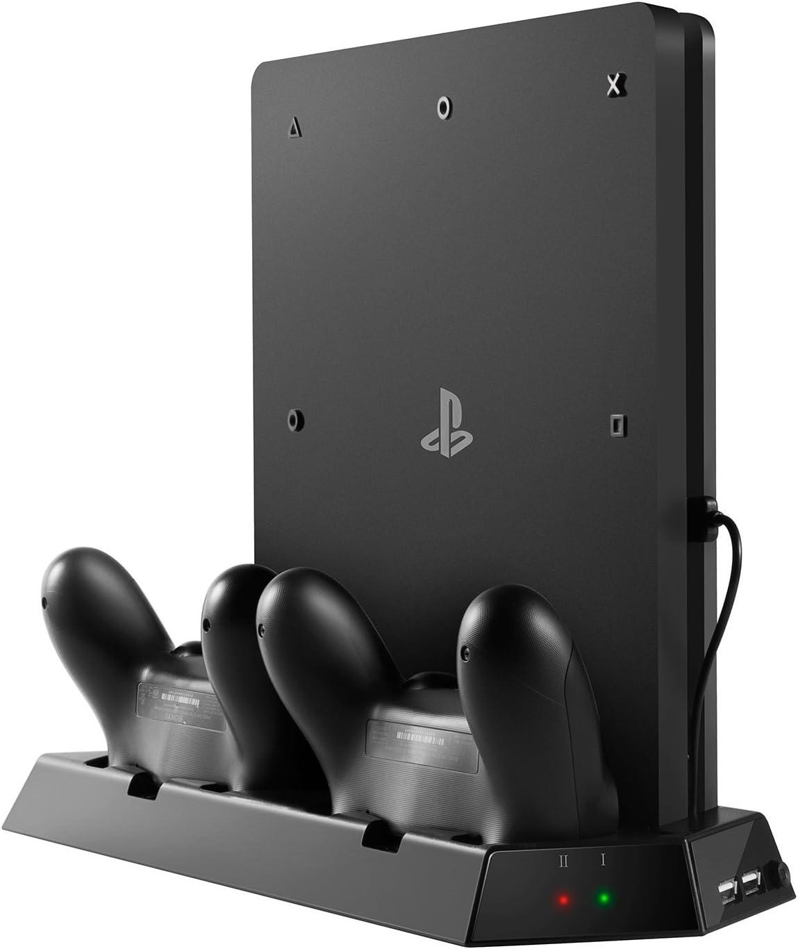 Pojazia PS4 Slim Ventilador vertical del soporte vertical con la ...