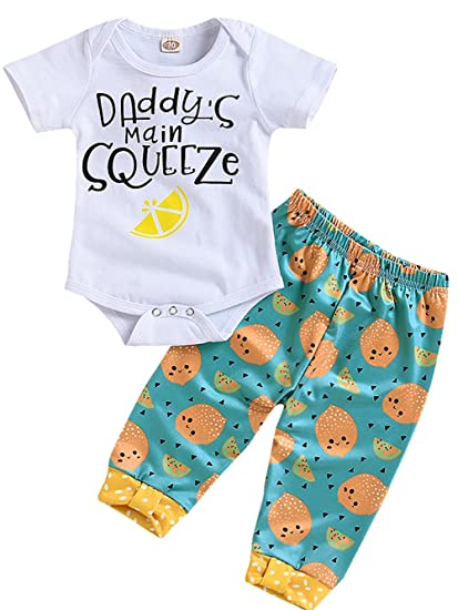 7dc003fc1ed7f Amazon.com: Happy Town Newborn Baby Girls Summer Clothes Father's ...