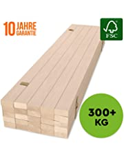 HansaBirke Rollrost - 300 kg 25 Leisten - Hochwertiger Extra starker Rollattenrost aus echtem Birkenholz - FSC Lattenrost unbehandelt - Lattenrollrost Premium