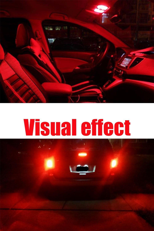 12V Car Interior Lighting For Map Dome Lamp License Plate Side Marker Dashboard Lights AMAZENAR 10-Pack White 194 T10 168 2825 W5W 175 158 Bulb 7014 10 SMD Canbus Error Free LED Light