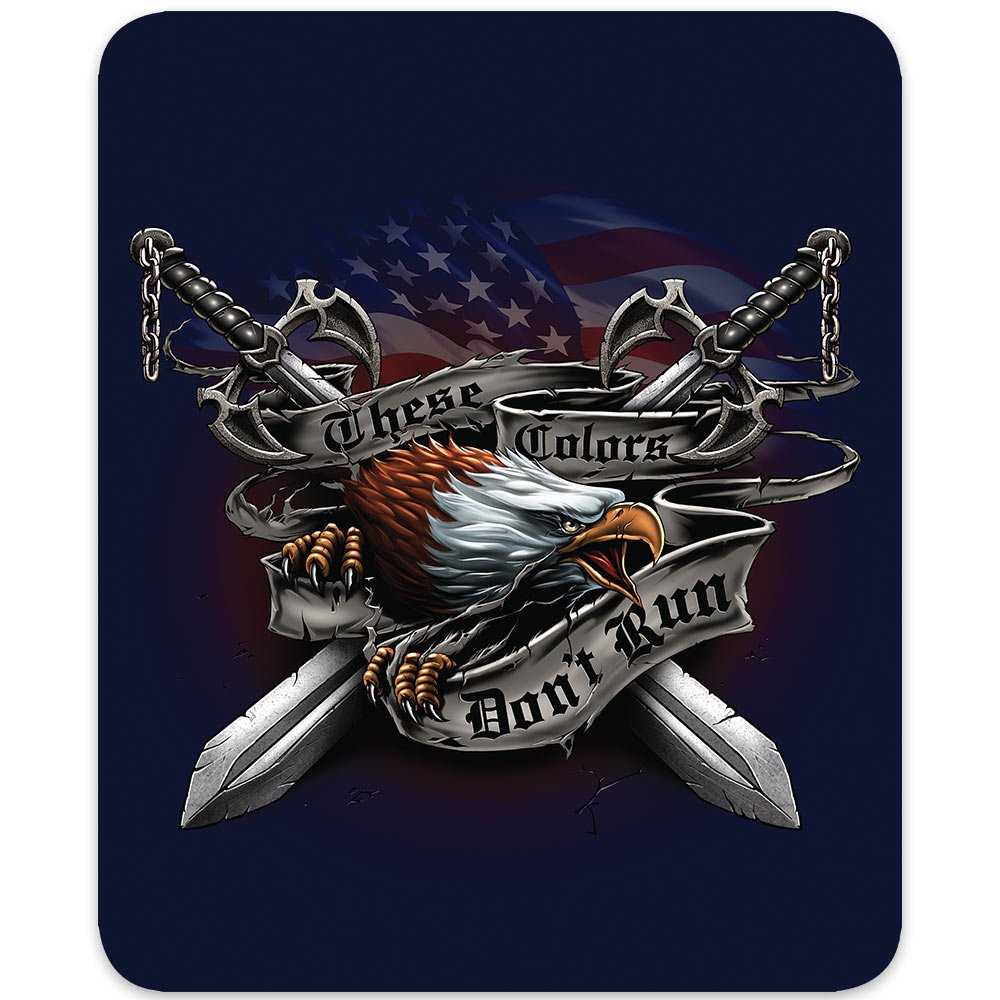 Eagle Honor These Colors Don't Run Medium Weight Faux Fur Blanket