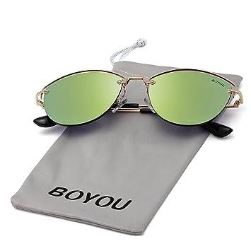 BOYOU Gafas de sol retro estilo aviador retro estilo completo con protección UV400: Amazon.es: Deportes y aire libre