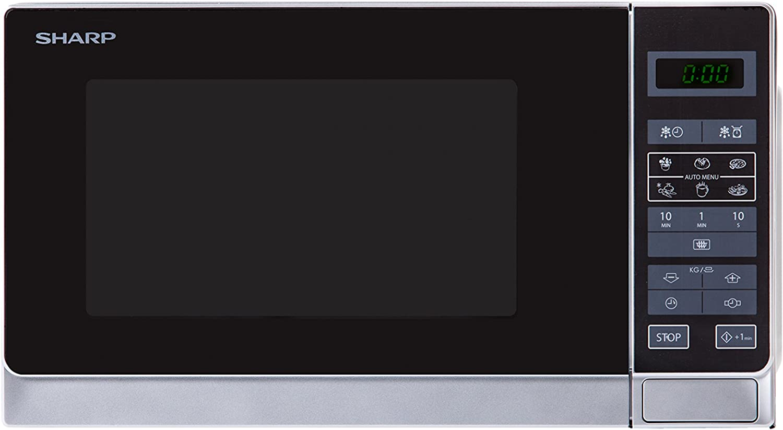 Sharp R-242 INW Microondas 20L, Control Táctil, 800W, 800 W, 20 ...