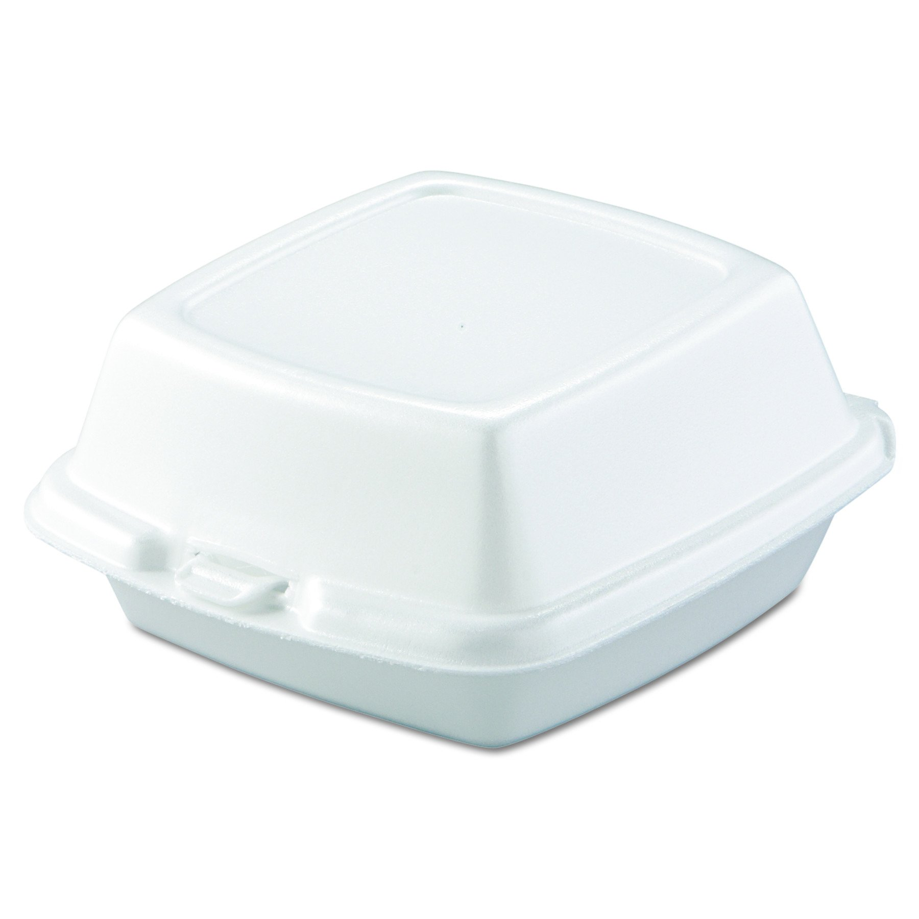 Dart 60HT1 6 in Lg Sandwich Foam Hinged Container (Case of 500) by DART