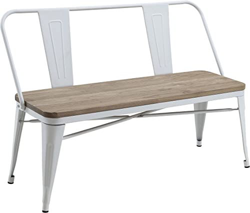HOMES Inside Out White Trevin Industrial Bench,