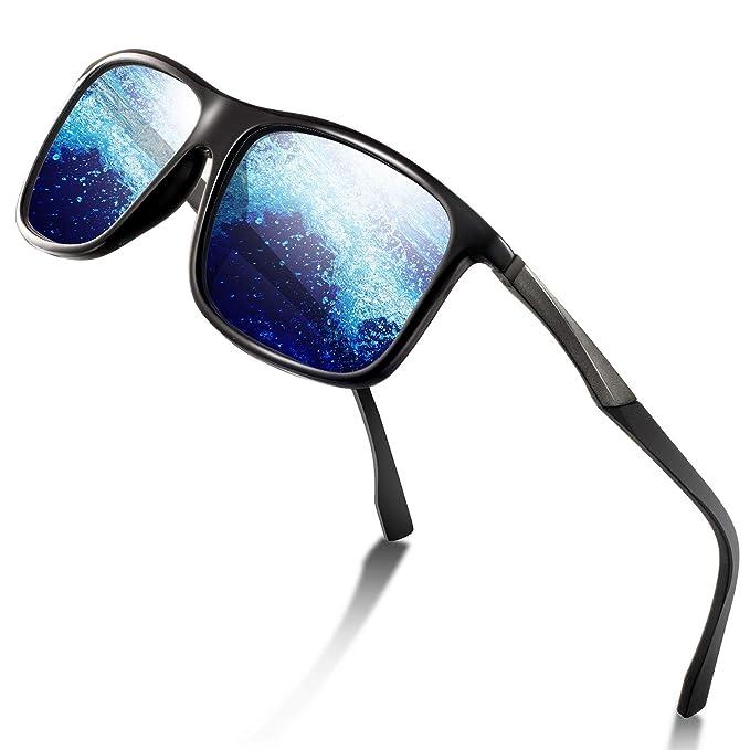 Amazon.com: Gafas de sol deportivas polarizadas para hombre ...