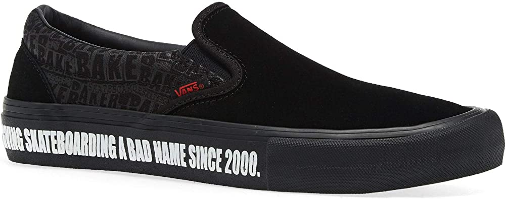Amazon.com | Vans Men/Women X Baker Slip on Pro Shoes Black ...