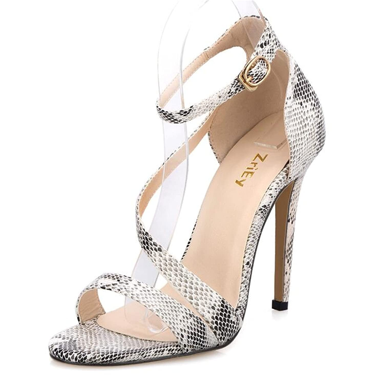 Twinkle UU Ankle Strap Shoes Pumps Women Sandals Summer Shoes Strap Woman Plus Size 35-42 Ladies Wedding Candy BY17860 8.5 M US|apricot B07DQH7Q8J 7c07e8