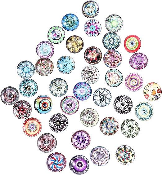 supvox 20pcs redondas Botones de presión Cristal coser botones ...