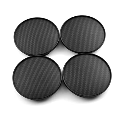 4pcs 68mm(2.67in)/61.5mm(2.42in) Wheel Center Caps Replacement for BBS LM XXR 530 535 Wheel Rims Carbon Fiber Style: Automotive