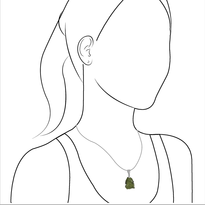 Starborn Sterling Silver Natural 20-30 carat Moldavite Pendant