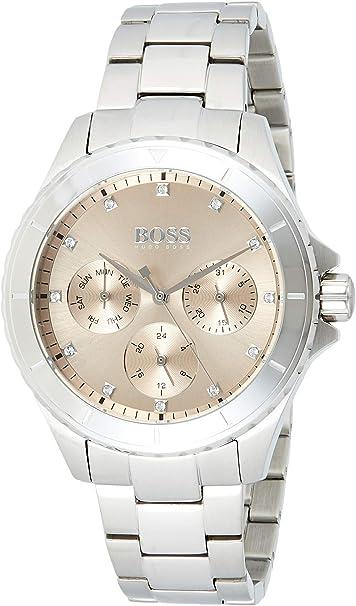 Hugo BOSS Reloj Multiesfera para Mujer de Cuarzo con Correa en Acero Inoxidable 1502444