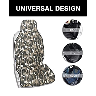 ACauto Camouflage Camo Waterproof Seat Cover Protector Universal Fits Car SUV Truck Van Driver Seat/Front Passenger Seat Avoid Sweat Dirt Dust Good Choice for Beach Swimming Surfing Gym Running Yoga: Automotive