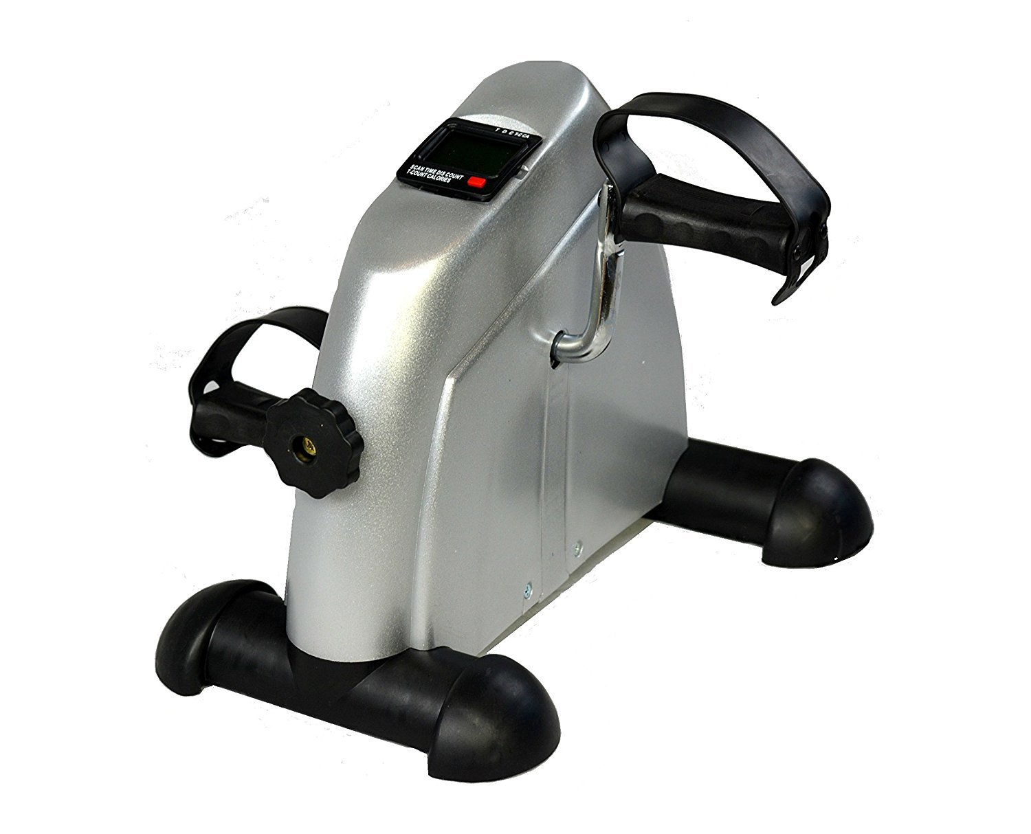 I Fitness Cardio Mini Cycle Arm Leg Exercise Pedal Bike Grey with LCD Counter