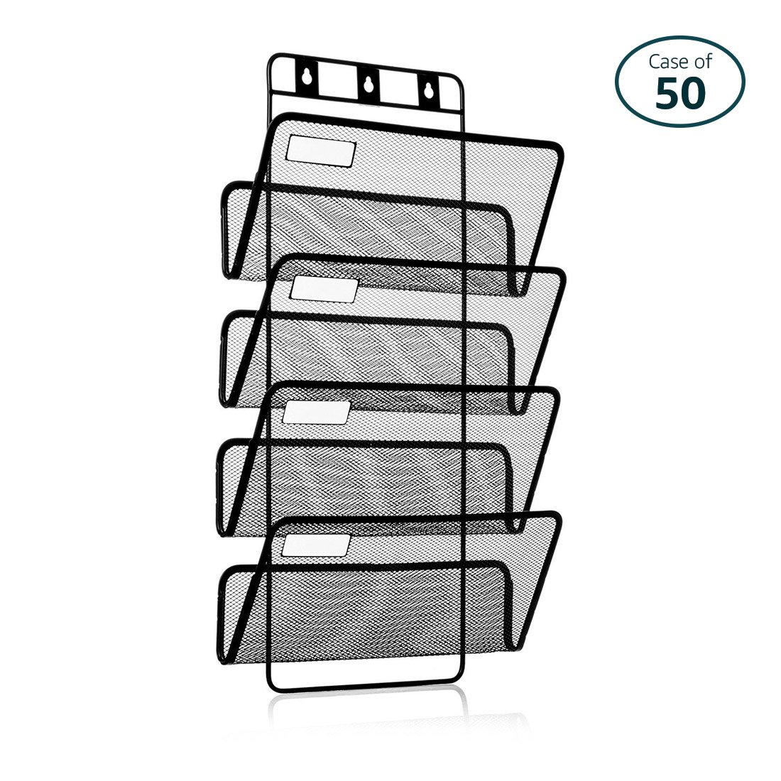 Pack of 50 25 Home Décor 4-Pocket Hanging Wall File Organizer