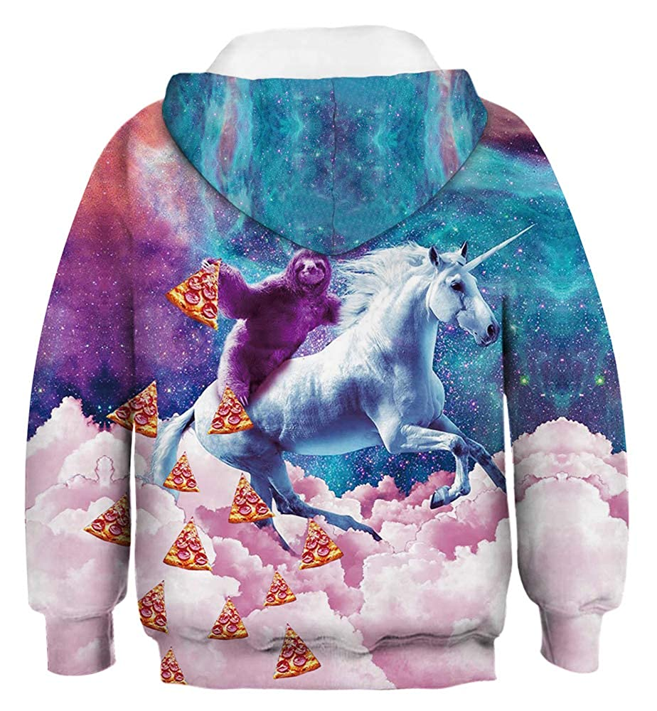 Indrah Boys 3D Animal Printed Hoodies Active Sweatshirt Unisex Hooded Pullover Jumpers 4-13Y